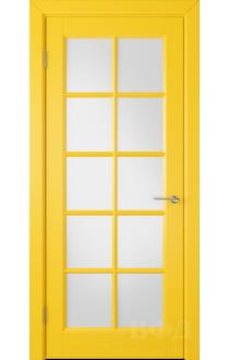 Дверь ВФД Гланта 57ДО08 Эмаль желтая