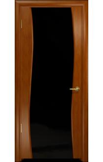 Дверь Арт Деко Вэла темный анегри ДО черный триплекс
