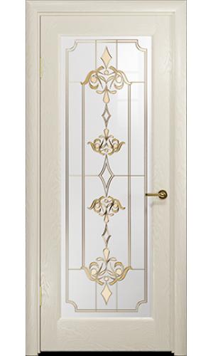 Дверь Арт Деко Ченере 4 Аква стекло Нуво