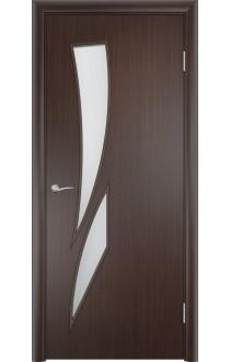 Двери Верда С-02 Венге Стекло Сатинато