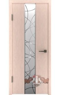Двери ВФД Токио 16ДО5 Беленый дуб Зеркало 1