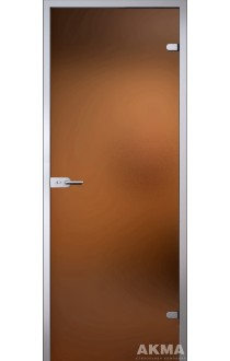 Дверь стеклянная Акма Light Бронза матовая
