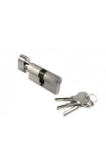 Цилиндр Morelli ключ-вертушка (60 мм) белый никель