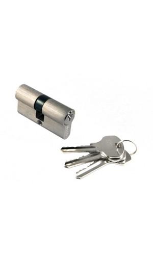 Цилиндр Morelli ключ-ключ (60 мм) белый никель