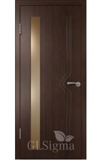 Двери ВФД Сигма 62 Венге стекло Альфа белое рифлен