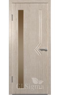 Двери ВФД Сигма 62 Беленый дуб стекло Сатинат бронза