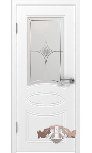 Двери ВФД Олимп 21ДО0 Белая эмаль стекло Белое матированное