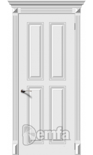 Дверь Дэмфа Ретро 4 Белый ДГ