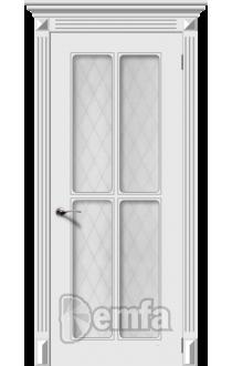 Дверь Дэмфа Ретро 4 Белый ДО
