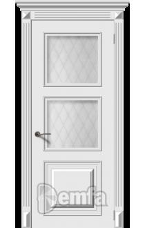Дверь Дэмфа Багет 1 Белый ДО