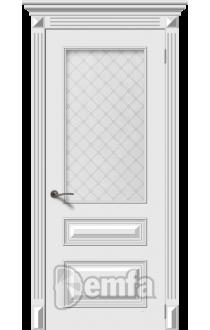 Дверь Дэмфа Багет 3 Белый ДО