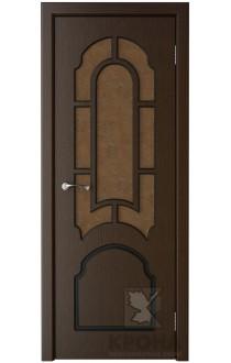 Дверь Крона Соната Венге стекло дельта-бронза