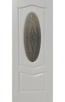 Венера Белый ясень стекло матовое с гравировкой