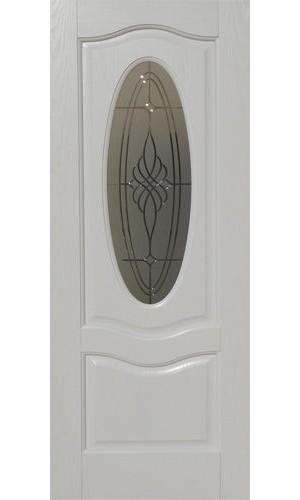 Дверь Покрова Венера Белый ясень стекло матовое с гравировкой