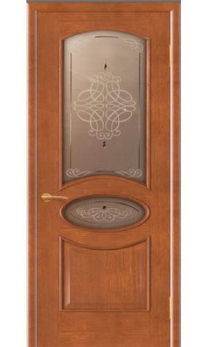 Дверь Покрова Галактика Темный анегри стекло бронза с гравировкой