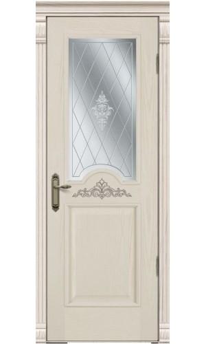 Дверь Покрова Париж Крем стекло матовое