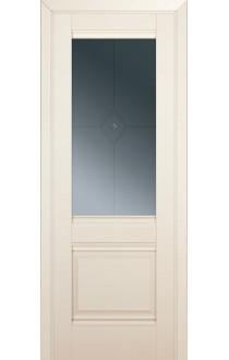 Двери Профиль Дорс 2U Магнолия Сатинат Стекло Узор графит 1