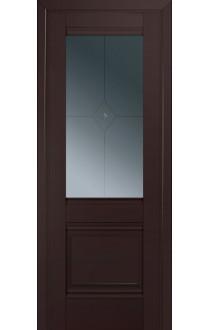 2U Темно-коричневый Стекло Узор графит 1