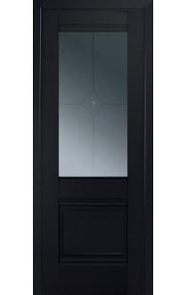 2U Черный матовый Стекло Узор графит 1