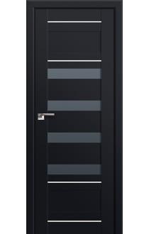 Двери Профиль Дорс 32U Черный матовый Стекло Графит