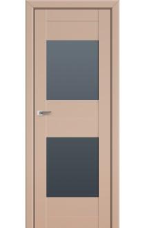 Двери Профиль Дорс 61U Капучино Сатинат Стекло Графит