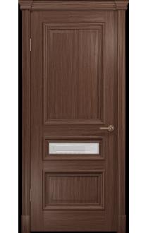 Двери Арт Деко Аттика 2-3 Американский орех Стекло Гравировка