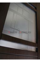 Фото установленной Вега Дуб стекло матовое с рисунком